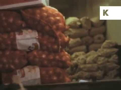 1960s Covent Garden, Fruit and Vegetable Market, London Archive Footage