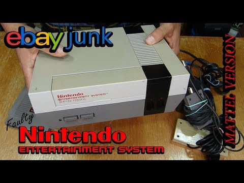 ebay junk, Faulty Nintendo Entertainment System (NES) Mattel Version