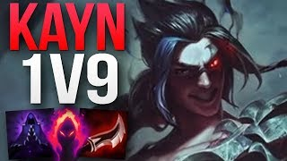 INSANE CHALLENGER KAYN MAIN 1V9 GAMEPLAY! | CHALLENGER KAYN JUNGLE GAMEPLAY | Patch 8.23 S8