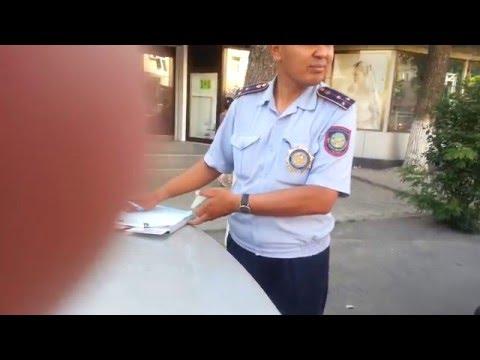 Нарушители ПДД РК в погонах. Шымкент и его полиция. Наказание правонарушений. КоАП РК для сотрудника