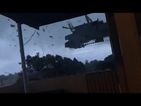 Severe tornado hits