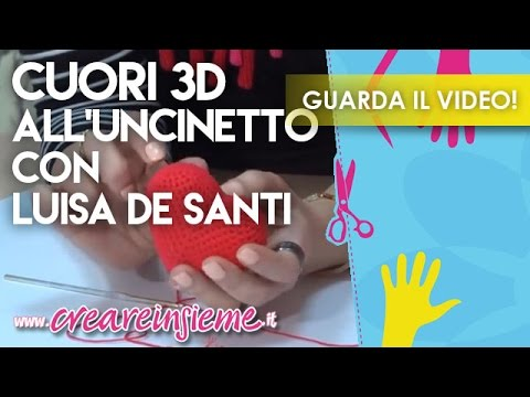 Video Manidilara Cuori 3d Alluncinetto Con Luisa De Santi Youtube