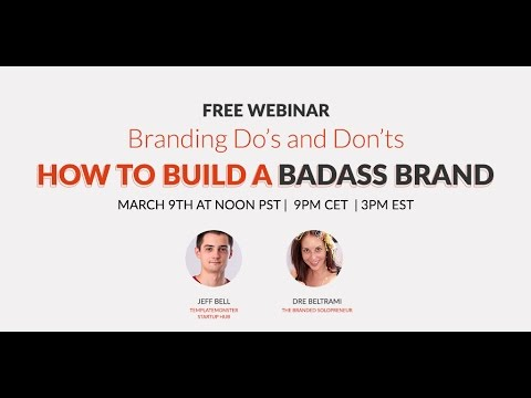 "Branding Do's and Dont's with Andrea ""Dre"" Beltrami - Webinar"