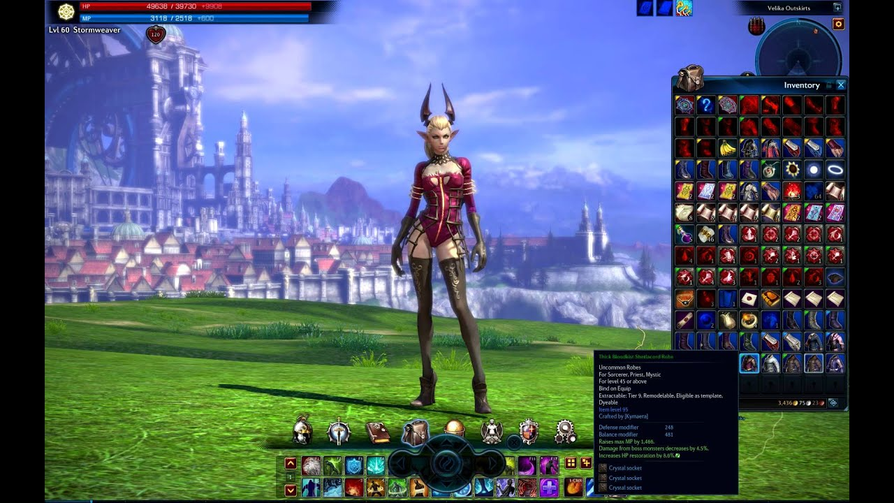 TERA Crafted Templates for Cloth Robes on Castanic Females