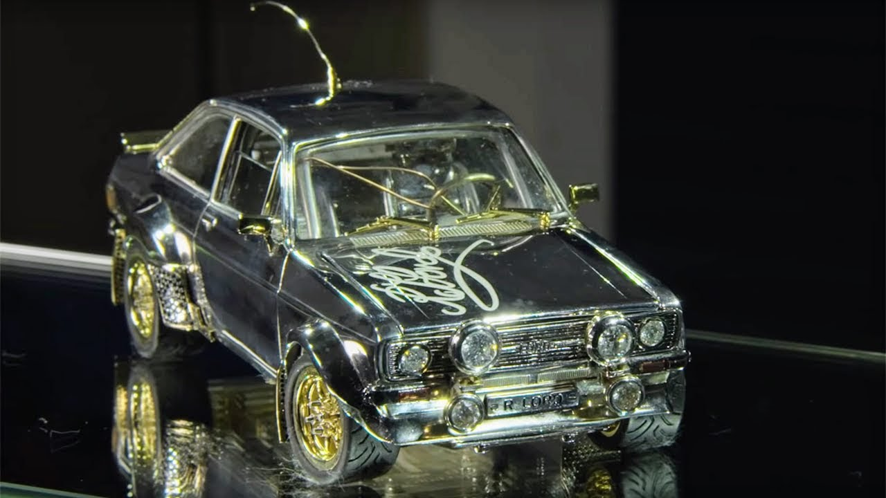 7a00fa330 Tiny Classic Ford Escort Made of Gold, Diamonds and Silver