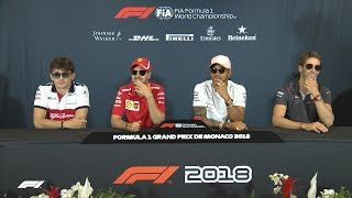 2018 Monaco Grand Prix: Pre-Race Press Conference