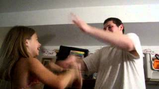Anthony and Lucy  smacking each other 2005