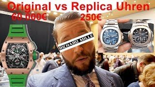 Messe München: Original 60.000€ Uhr vs. 250€ Replica