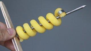 Необычный самодельный нож для картофеля / ОТЛИЧНЫЙ РЕЗУЛЬТАТ !/DIY spiral potato cutter