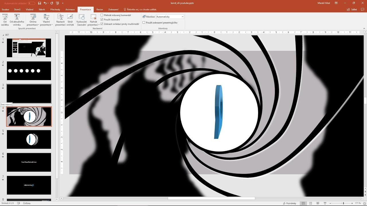 James Bond Gun Barrel Sequence 100 PowerPoint