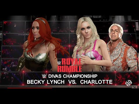 WWE Royal Rumble 2016: Charlotte vs. Becky Lynch WWE 2K16 Simulation