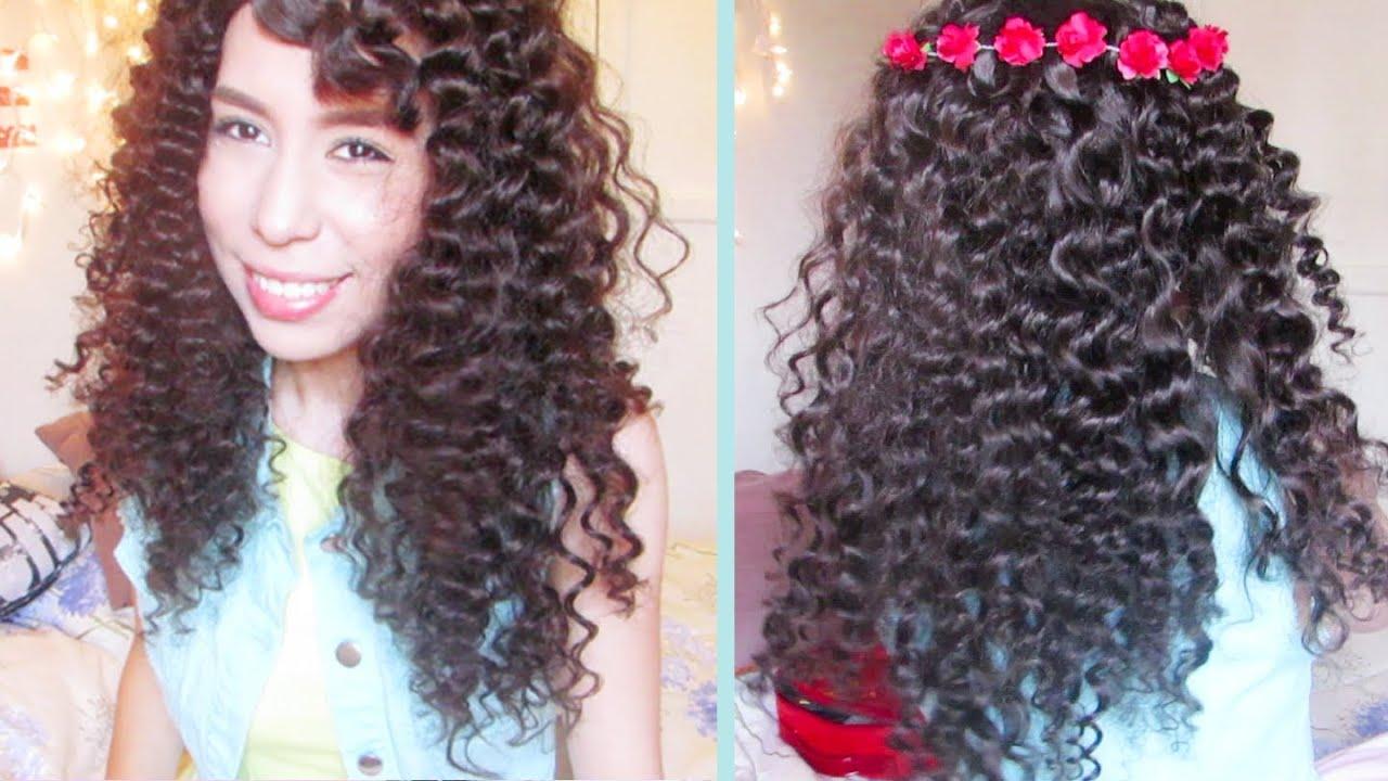 Rizos Sin Calor Con Popotes 4 Peinados Youtube