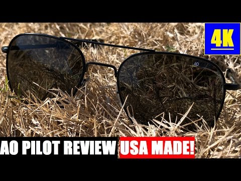 AO American Optical Original Pilot Sunglasses Review: USA MADE! 4K