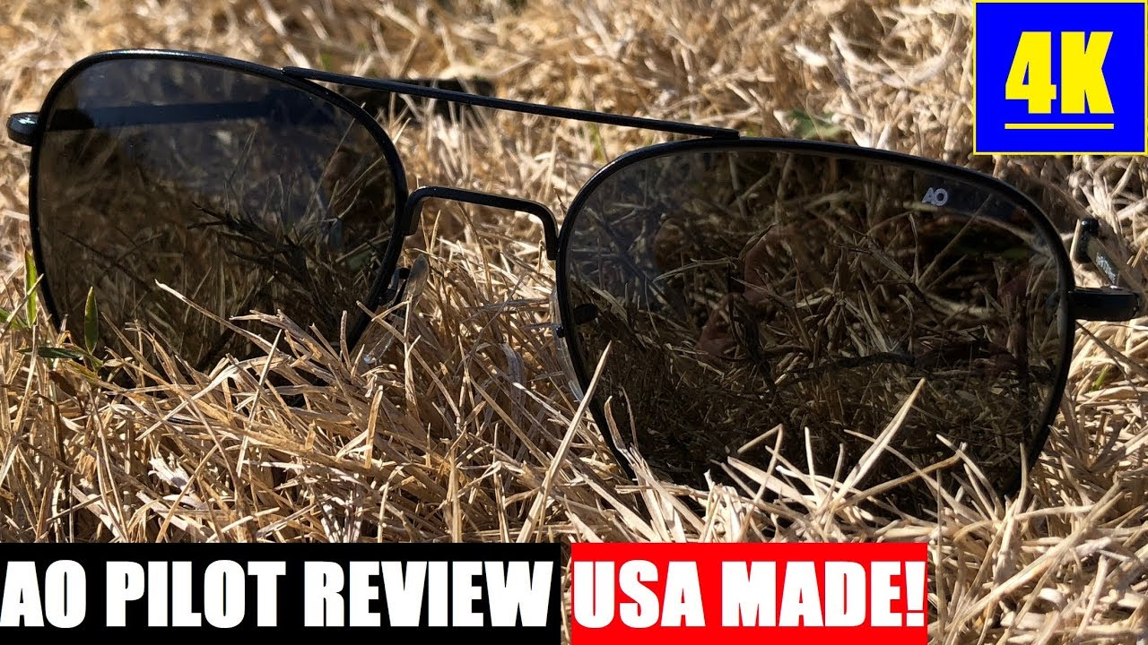 d0349a932de AO American Optical Original Pilot Sunglasses Review  USA MADE! 4K ...