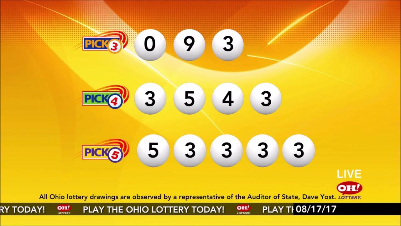 Ohio Lottery Drawing Demo Sean F Lowe Youtube