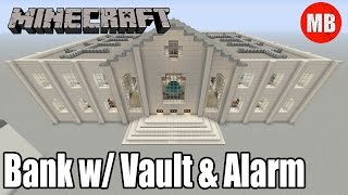 Minecraft Bank with Bank Vault and Alarm!