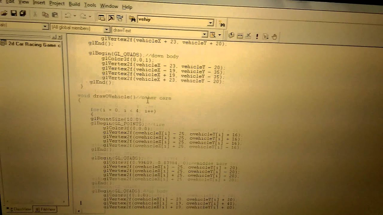 Line Drawing Algorithm Using Opengl : D car racing game computer graphics opengl projec youtube