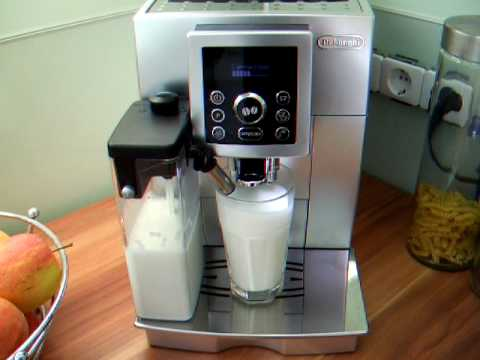 zubereitung eines latte macchiato mit der delonghi ecam youtube. Black Bedroom Furniture Sets. Home Design Ideas