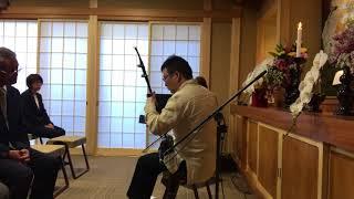 小田原の常光寺さんでピアニストの寺門恵子さんの伴奏に合わせて演奏し...