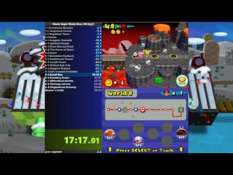 Newer Super Mario Bros. DS Any% Speedrun 29:14.300 WR