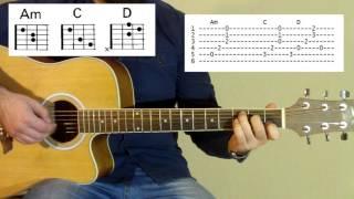 Johnny Cash - Hurt (OST Logan) acoustic Как играть на гитаре