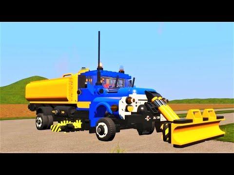 Русские грузовики ЗИЛ 130 и КАМАЗ нарушитель - Игра про машины Brick Rigs