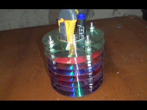 Как сделать подставку из CD дисков