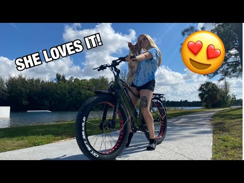 I GOT COURTNEY AN E BIKE!!