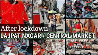 Lajpat Nagar Market Delhi 2020 | Central Market October collection| Patri Market open | Hindi-Part 1