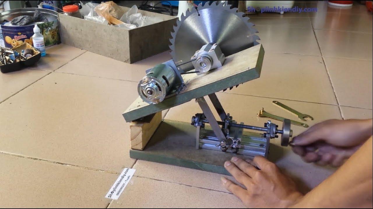 Chế Máy Cưa Bàn V2 – PHẦN 1 : Làm Khung Động Cơ Với Tính Năng Nâng Hạ Lưỡi Cưa
