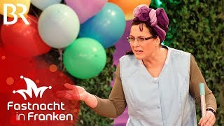 Ines Procter als Putzfrau | Fastnacht in Franken 2018 | Veitshöchheim