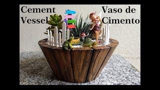 DIY Vaso de Cimento  DIY Cement Vessel