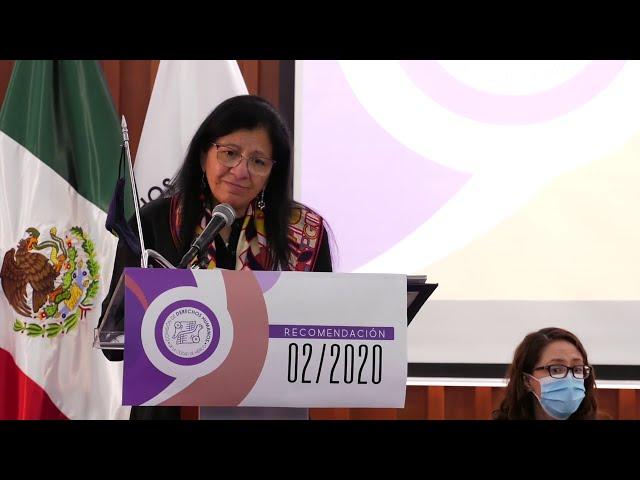 Discurso de Nashieli Ramírez, Ombudsperson capitalina, en presentación de Recomendación 02/2020