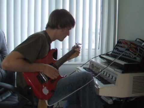 Guitar through Korg