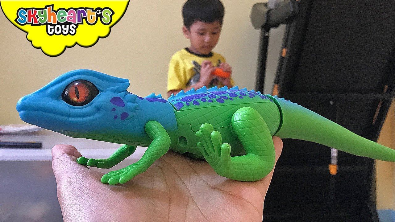 Like Toy Tv : Scary lizard gecko in our room toddler plays with robo