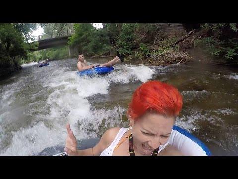 Tubing in Boulder Creek!