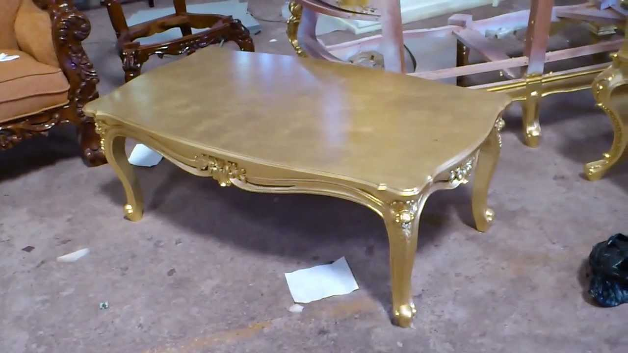 Antique Gold Leaf Carving Coffee Table   VIXIDesign.com   YouTube