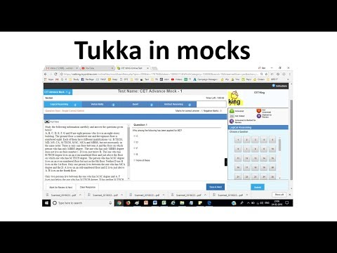 Tukka Matka in MBA CET 2018 exam and mocks