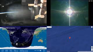 Sunset Over South America  - ISS Space Station Earth View LIVE NASA/ESA Cameras And Map - 94