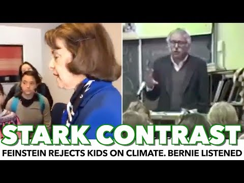 Feinstein Rejects Climate Kids. Bernie Did The Opposite