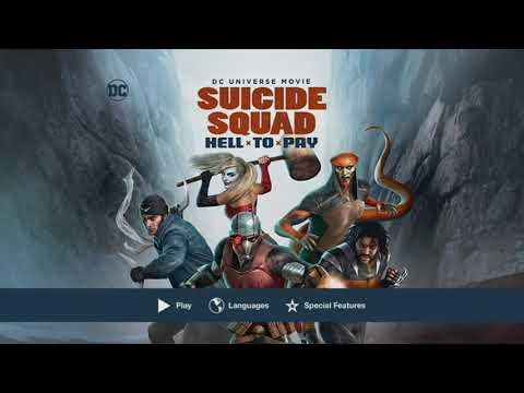 Suicide Squad Hell to Pay DVD Menu
