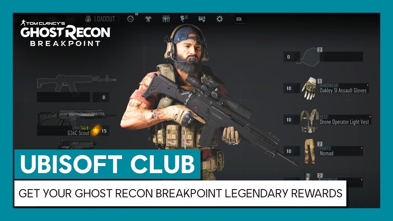 UBISOFT CLUB : GET YOUR GHOST RECON BREAKPOINT LEGENDARY REWARDS