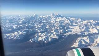 Flying by Mt. Denali - Alaska Airlines Fairbanks to Anchorage,…