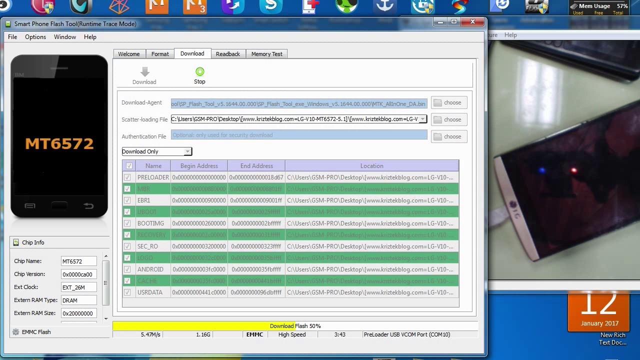 lg h816t mtk MT6572 flash firmware 5 1 1