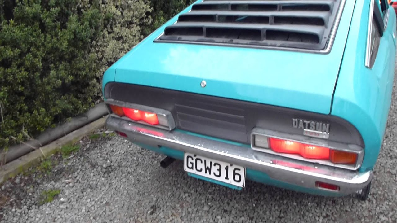 datsun 120y coupe fresh rebuild idle - YouTube