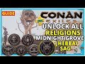 CONAN EXILES PS4 TIPS! All Religion Trainer Locations - JHEBBAL SAG Midnight Grove Guide