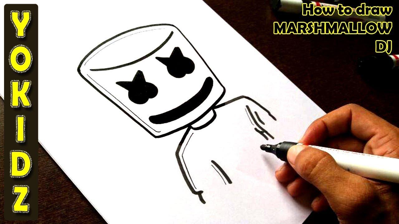 How to draw MARSHMALLOW DJ #1