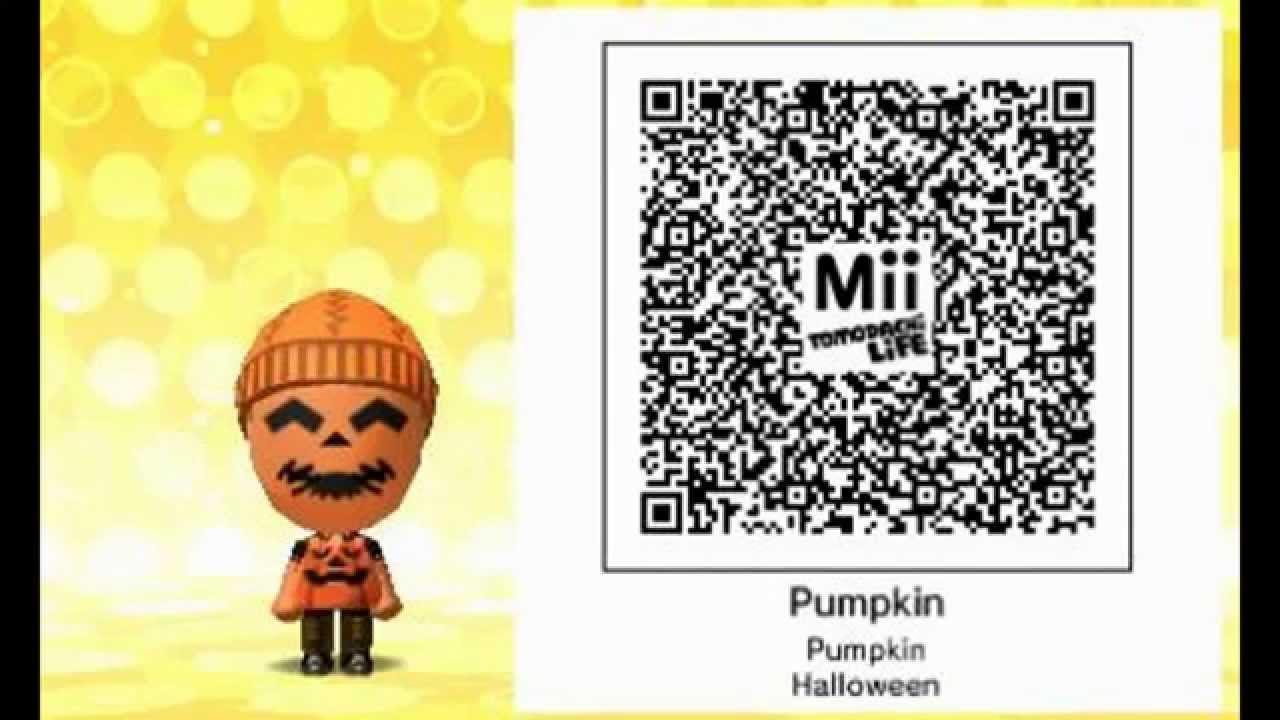 Especial Halloween :Pumpkin Qr Code Tomodachi Life - YouTube