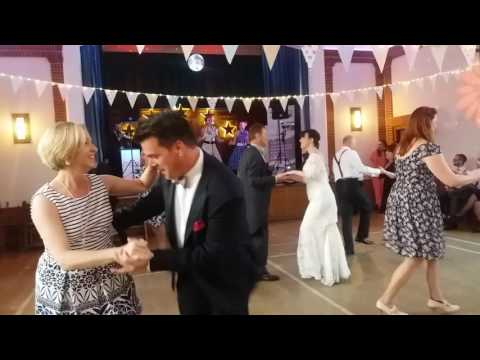 1940s wedding flash mob to In the Mood