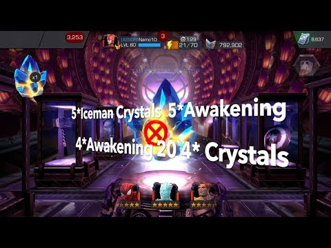 2 × Five Stars Iceman Crystals - 40,000 Four Star Shards - Five Star Awakening Gem